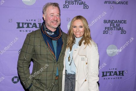 "Owen Teale, Toni Collette. Owen Teale and Toni Collette attend the premiere of ""Dream Horse"" at the Rose Wagner Center during the 2020 Sundance Film Festival, in Salt Lake City, Utah"