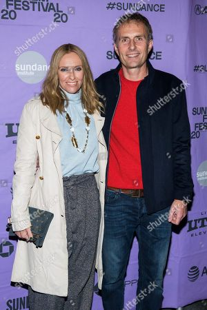 "Toni Collette, Euros Lyn. Toni Collette and Euros Lyn attend the premiere of ""Dream Horse"" at the Rose Wagner Center during the 2020 Sundance Film Festival, in Salt Lake City, Utah"