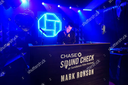 Editorial picture of Chase Sound Check Mark Ronson, Park City, USA - 23 Jan 2020