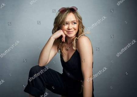 """Stock Photo of Emily Skeggs poses for a portrait to promote the film """"Dinner in America"""" at the Music Lodge during the Sundance Film Festival, in Park City, Utah"""
