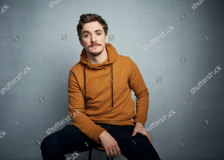 "Kyle Gallner poses for a portrait to promote the film ""Dinner in America"" at the Music Lodge during the Sundance Film Festival, in Park City, Utah"