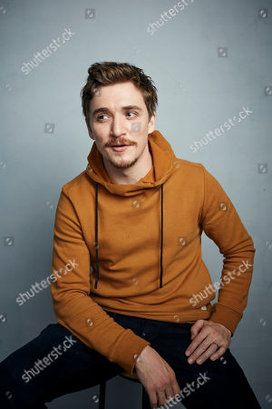 "Stock Photo of Kyle Gallner poses for a portrait to promote the film ""Dinner in America"" at the Music Lodge during the Sundance Film Festival, in Park City, Utah"
