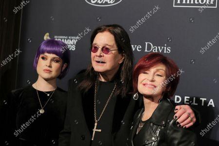 Stock Image of Kelly Osbourne, Ozzy Osbourne and Sharon Osbourne