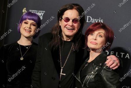 Stock Picture of Kelly Osbourne, Ozzy Osbourne and Sharon Osbourne