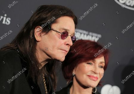 Stock Photo of Ozzy Osbourne and Sharon Osbourne