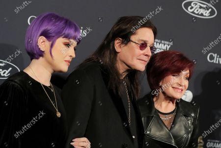 Kelly Osbourne, Ozzy Osbourne and Sharon Osbourne