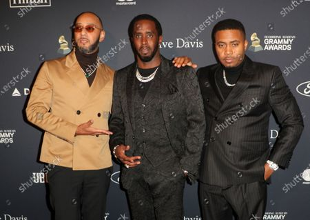 Stock Picture of Swizz Beatz, Sean Combs and Nas