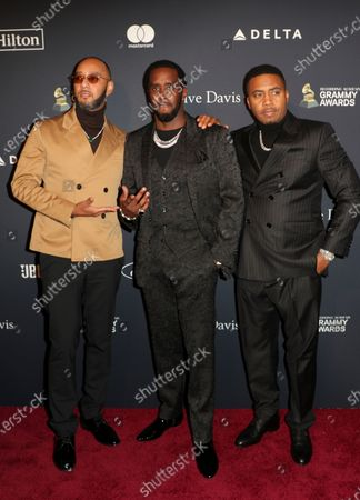 Swizz Beatz, Sean Combs and Nas