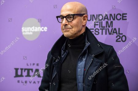 """Stanley Tucci attends the premiere of """"Worth"""" at the Eccles Theatre during the 2020 Sundance Film Festival, in Park City, Utah"""