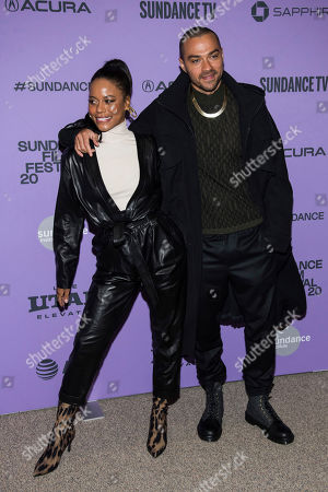 "Jesse Williams, Taylour Paige. Taylour Paige and Jesse Williams attend the premiere of ""Zola"" at the Eccles Theater during the 2020 Sundance Film Festival, in Park City, Utah"