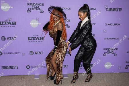 "A'Ziah King, Taylour Paige. A'Ziah ""Zola"" King, left, and Taylour Paige attend the premiere of ""Zola"" at the Eccles Theater during the 2020 Sundance Film Festival, in Park City, Utah"