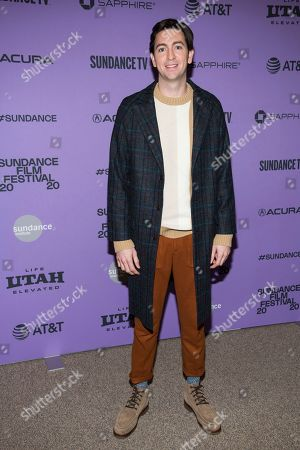 """Nicholas Braun attends the premiere of """"Zola"""" at the Eccles Theater during the 2020 Sundance Film Festival, in Park City, Utah"""
