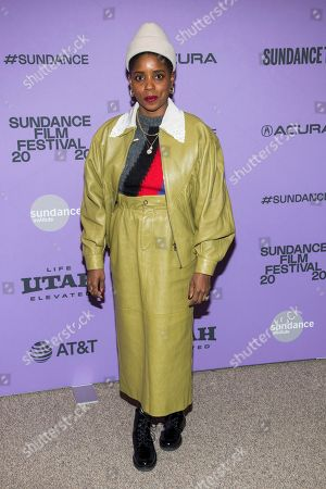 """Janicza Bravo attends the premiere of """"Zola"""" at the Eccles Theater during the 2020 Sundance Film Festival, in Park City, Utah"""