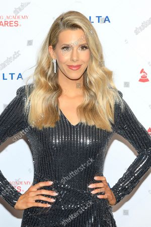 Ashley Wahler, wife of US actor Jason Wahler, arrives for the 2020 MusiCares Person of The Year gala at the Convention Center in Los Angeles, California, USA, 24 January 2020. MusiCares Person of the Year honored US rock band Aerosmith for their extraordinary creative accomplishments and significant philanthropic efforts over five decades.
