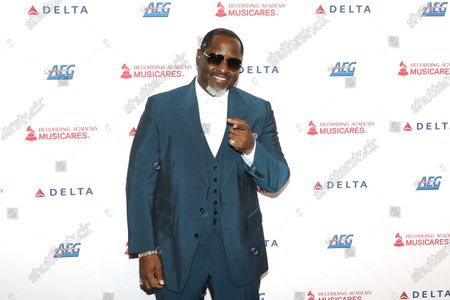Johnny Gill arrives for the 2020 MusiCares Person of The Year gala, at the Convention Center in Los Angeles, California, USA, 24 January 2020. MusiCares Person of the Year Tribute honored US rock band Aerosmith for their extraordinary creative accomplishments and significant philanthropic efforts over five decades.