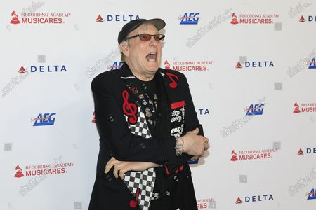 Stock Image of Rick Nielsen of the band Cheap Trick arrives for the 2020 MusiCares Person of The Year gala at the Convention Center in Los Angeles, California, USA 24 January 2020. MusiCares Person of the Year Tribute honored US rock band Aerosmith for their extraordinary creative accomplishments and significant philanthropic efforts over five decades.