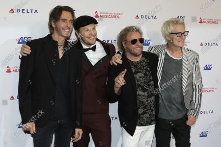Rick Springfield, Gavin DeGraw, Sammy Hagar and Kevin Cronin arrive for the 2020 MusiCares Person of The Year gala at the Convention Center in Los Angeles, California, USA 24 January 2020. MusiCares Person of the Year Tribute honored US rock band Aerosmith for their extraordinary creative accomplishments and significant philanthropic efforts over five decades.