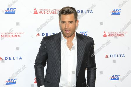 Jason Wahler arrives for the 2020 MusiCares Person of The Year gala, at the Convention Center in Los Angeles, California, USA, 24 January 2020. MusiCares Person of the Year Tribute honored US rock band Aerosmith for their extraordinary creative accomplishments and significant philanthropic efforts over five decades.