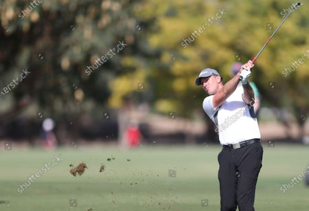 Robert Karlsson of Sweden in action during the third round of Omega Dubai Desert Classic 2020 Golf tournament at Emirates Golf Club in Dubai, United Arab Emirates, 25 January 2020.