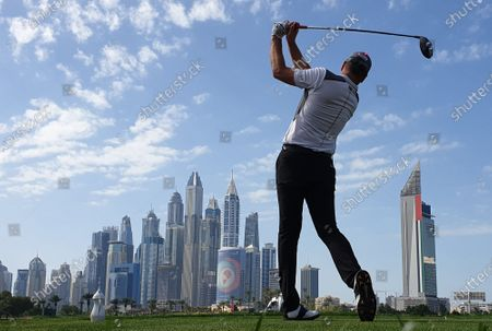 Stock Picture of Robert Karlsson of Sweden in action during the third round of Omega Dubai Desert Classic 2020 Golf tournament at Emirates Golf Club in Dubai, United Arab Emirates, 25 January 2020.