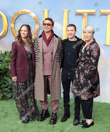 Susan Downey, Robert Downey Jr. Tom Holland and Emma Thompson