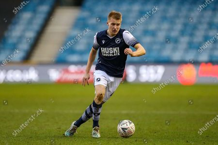 Millwall midfielder Billy Mitchell (42) during The FA Cup match between Millwall and Sheffield United at The Den, London