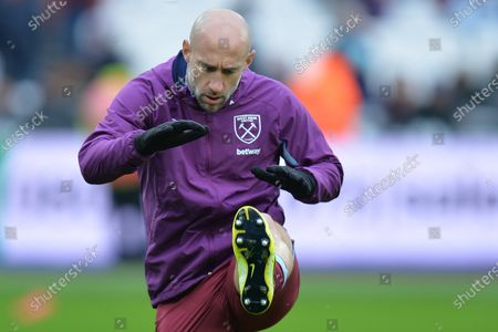 Pablo Zabaleta of West Ham United during West Ham United vs West Bromwich Albion, Emirates FA Cup Football at The London Stadium on 25th January 2020