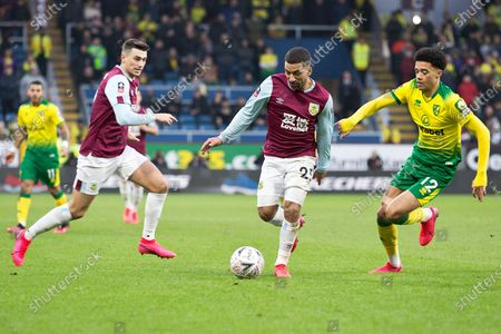 Stock Picture of Burnley midfielder Aaron Lennon (25) in action  during the The FA Cup match between Burnley and Norwich City at Turf Moor, Burnley