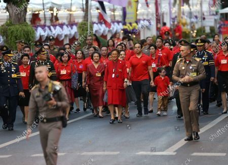 Thailand's Princess Maha Chakri Sirindhorn (C) arrives for presided over the Chinese New Year ceremony at Chinatown in Bangkok, Thailand, 25 January 2020. The Lunar New Year, also known as Spring Festival in China and Tet in Vietnam, falls on 25 January 2020, marking the beginning of the Year of the Rat.