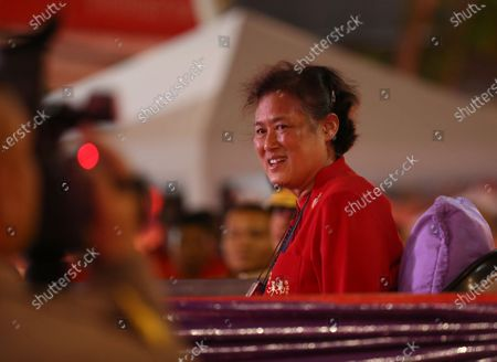 Thailand's Princess Maha Chakri Sirindhorn (3-L) to presided over the Chinese New Year ceremony at Chinatown in Bangkok, Thailand, 25 January 2020. The Lunar New Year, also known as Spring Festival in China and Tet in Vietnam, falls on 25 January 2020, marking the beginning of the Year of the Rat.