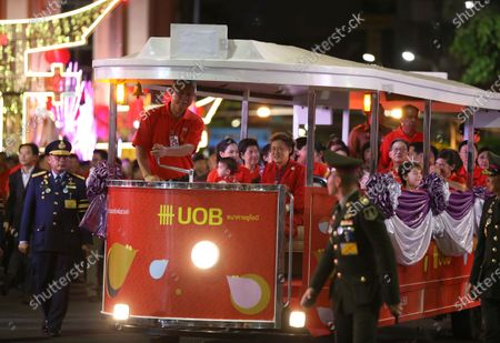 Thailand's Princess Maha Chakri Sirindhorn (C) sits on a car after presided over the Chinese New Year ceremony at Chinatown in Bangkok, Thailand, 25 January 2020. The Lunar New Year, also known as Spring Festival in China and Tet in Vietnam, falls on 25 January 2020, marking the beginning of the Year of the Rat.