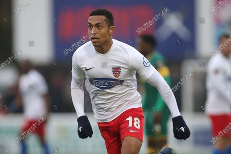 Alex Reid of Dagenham during Dagenham & Redbridge vs Notts County, Vanarama National League Football at the Chigwell Construction Stadium on 25th January 2020