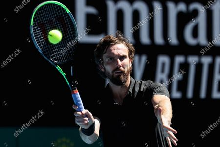 Ernests Gulbis of Latvia competes during his men's singles third round match