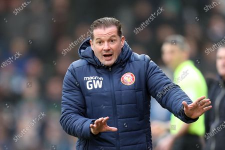 Stevenage manager Graham Westley during Stevenage vs Plymouth Argyle, Sky Bet EFL League 2 Football at the Lamex Stadium on 25th January 2020