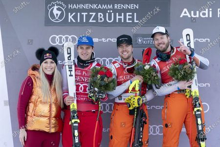 Editorial image of 20200124 Audi FIS Alpine Ski World Cup - Mens SUPER G, Kitzbuehel, USA - 24 Jan 2020