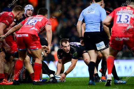 Editorial photo of Exeter Chiefs v Sale Sharks, UK - 25 Jan 2020