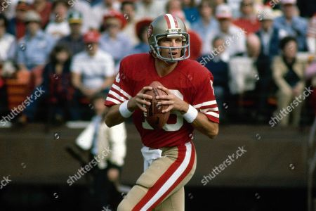 Showing San Francisco 49ers NFL football quarterback Joe Montana. What doach Kyle Shanahan, quarterback Jimmy Garoppolo, defensive end Nick Bosa and the rest of the San Francisco 49ers are doing this year harkens back to 1981 when Bill Walsh, Joe Montana and Ronnie Lott led the franchise to its first Super Bowl title