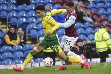 Norwich Jamal Lewis and Burnley Aaron Lennon clash