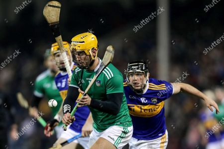 Tipperary vs Limerick. Limerick's Tom Morrissey and Willie Connors of Tipperary