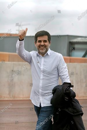 Former president of Catalan pro-independence group ANC Jordi Sanchez reacts as he leaves the Lledoners prison in Sant Joan de Vilatorrada, Barcelona, Catalonia, northeastern Spain, 25 January 2020. Sanchez left the prison for his first furlough of 48 hours, after being imprisoned for 830 days following the Spanish Supreme Court sentence of 9 years and half for sedition and rebellion for his role in the Catalan illegal independence referendum back in 2017.