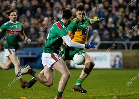 Stock Photo of Donegal vs Mayo. Donegal's Paul Brennan and Mayo's Brendan Harrison