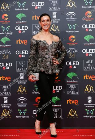 Spanish TV host Raquel Sanchez Silva attends the 34th annual Goya Awards ceremony at the Jose Maria Martin Carpena Sports Palace in Malaga, Spain, 25 January 2020. The awards are presented by the Spanish Academy of Motion Picture Arts and Sciences.