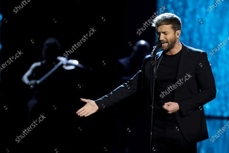 Pablo Alboran performs during the 34th annual Goya Awards ceremony at the Jose Maria Martin Carpena Sports Palace in Malaga, Spain, 25 January 2020. The awards are presented by the Spanish Academy of Motion Picture Arts and Sciences.