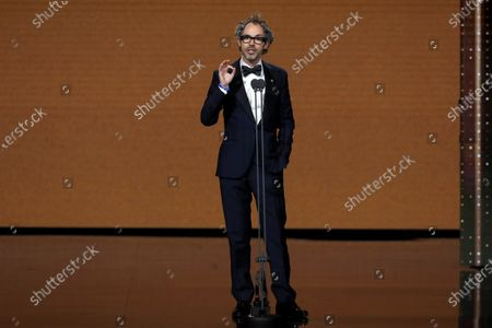 The British musician James Rhodes speaks during the 34th Goya Awards ceremony held at the Jose Maria Martin Carpena Sports Palace in Malaga, southern Spain, 25 January 2020. The awards are presented by the Spanish Film Academy.
