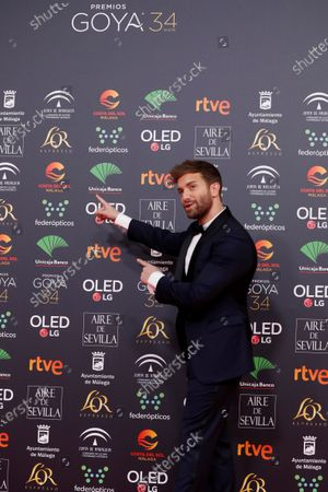 Pablo Alboran attends the 34th annual Goya Awards ceremony at the Jose Maria Martin Carpena Sports Palace in Malaga, Spain, 25 January 2020. The a?wards are presented by the Spanish Academy of Motion Picture Arts and Sciences.