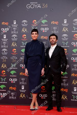Rodrigo Sorogoyen (R) and actress Isabel Pena attend the 34th annual Goya Awards ceremony at the Jose Maria Martin Carpena Sports Palace in Malaga, Spain, 25 January 2020. The awards are presented by the Spanish Academy of Motion Picture Arts and Sciences.