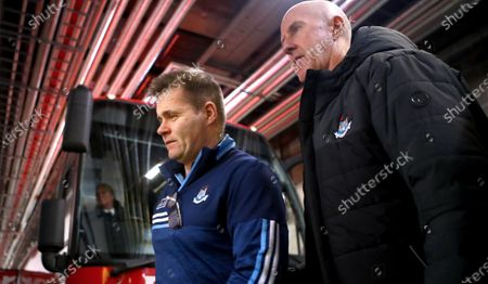 Stock Picture of Dublin vs Kerry. Dublin manager Dessie Farrell and selector PAUL CLARKE arrive