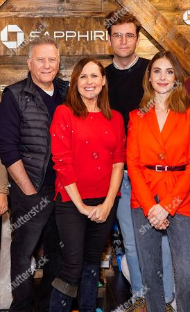 Paul Reiser, Molly Shannon, John Reynolds, Alison Brie. Paul Reiser, Molly Shannon, John Reynolds and Alison Brie pose for a photo at the Los Angeles Times Studio at Sundance Film Festival presented by Chase Sapphire, in Park City, Utah