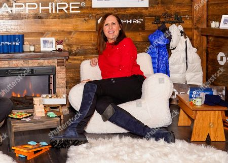 Molly Shannon poses for a photo at the Los Angeles Times Studio at Sundance Film Festival presented by Chase Sapphire, in Park City, Utah