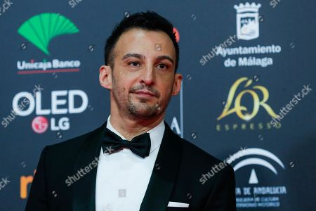 Spanish film director Alejandro Amenabar poses for photographers at the red carpet ahead the Goya Film Awards Ceremony in Malaga, southern Spain,. The annual Goya Awards are Spain's main national film awards